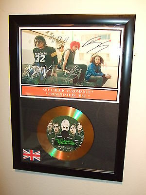 My Chemical Romance  Signed Framed Gold Cd  Disc   443