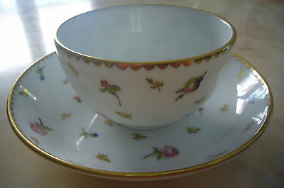 SWISS PORCELAIN NYON   CUP AND  SAUCER  XVIII century