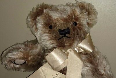 "Gorgeous LE 20"" Golden Brown Frosted Mohair Teddy Bear by Merrythought, England"