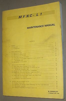 Fanuc MFNC-L1 Maintenance Manual, B-53985E/01 1983