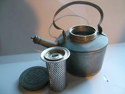 EARLY CAMPING MOTORIST KETTLE VINTAGE CAMPING army & navy stores PICNIC military
