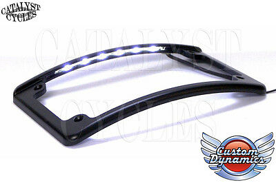Custom Dynamics Curved LED Motorcycle License Plate Frame LPF-RAD-B-LP