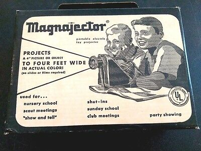 Vintage Magnajector Electric Projector New in Box with Manual
