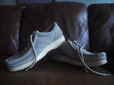 Ecco 'free' Beige Suede Lace Up Shoes/loafers  Size 6.5/40