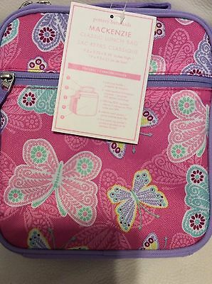 Pottery Barn Kids Mackenzie Classic Lunch Bag Pink Lavender Butterfly NWT!