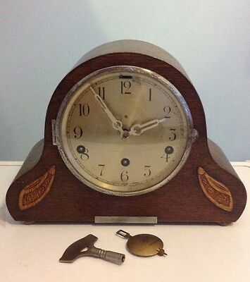 Vintage 8 Day Westminster Chime Mantel Clock, Working