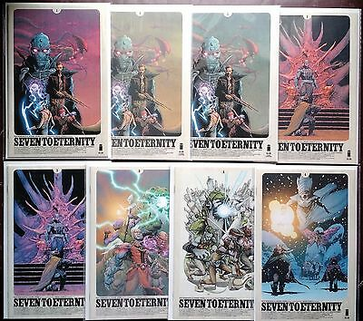 Seven To Eternity #1-4 (2016) NM Remender Opena 1st 2nd 3rd print FREE SHIPPING