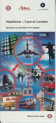 Original Heathrow Brochure For Services To And From Central London - 1998