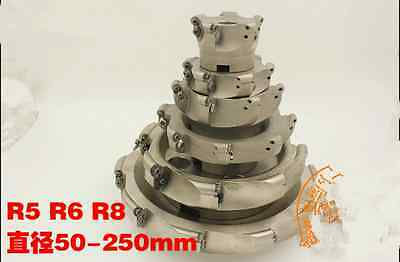 EMR 8R-160-40-7F indexable face milling cutter 8Flute end mill for RDMW1604MOE