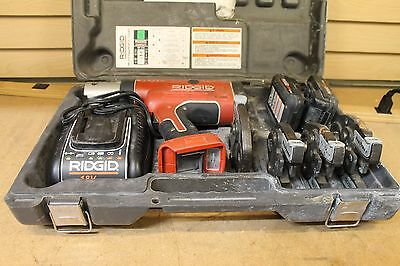 Ridgid Press Tool Kit With Propress Jaws Two Batteries And A Charger