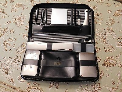 Vintage Grooming Kit from Western Germany shaving kit/stainless/leather case EVC