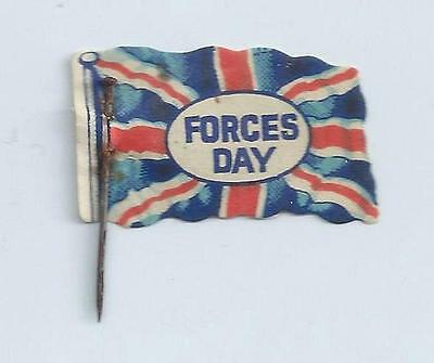 "WW1 PIN BADGE - ""FORCES DAY"" LORD ROBERTS WORKSHOPS - Fundraising/ Flag Day"