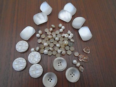 Collection Of Vintage Pearlized Buttons