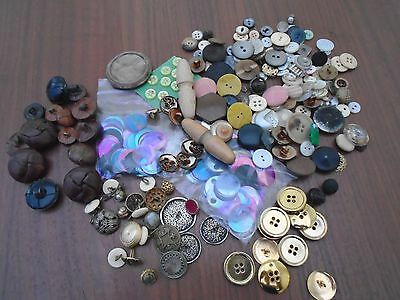 Large Collection Of Vintage Buttons