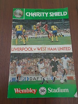 Fa Charity Sheild Liverpool V West Ham August 1980