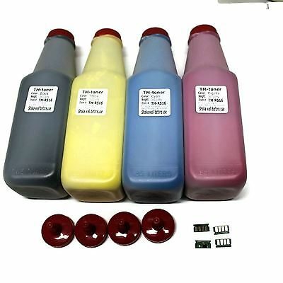 4 Toner refill kit with chips for Ricoh Aficio SP C420DN C411DN C410DN CL4000