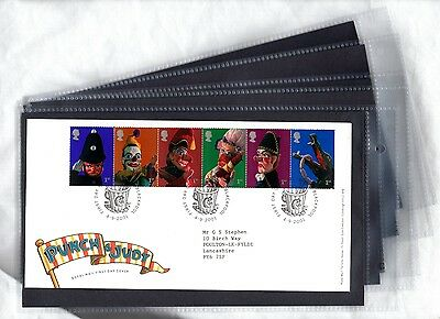 Merlin FDC First day Cover Single Pocket Leaves 5,10,25,50, or 100 2-Ring Album