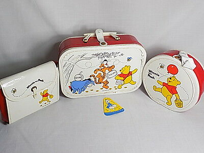 Winnie The Pooh Vintage 60's Kids 3 Piece Luggage By Miner Industries W Tag