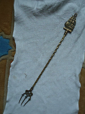 Vintage Brass Toasting Fork:The Victory