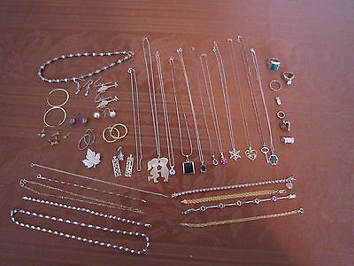 Vintage Lot of Sterling Silver Jewelry All wearable 181 grams