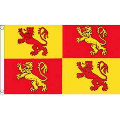 Owain Glyndwr - Wales Flag - 5ft x 3ft - Welsh Flag - 5ft x 3ft - with eyelets
