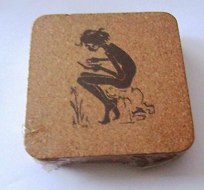 Collectable Six Cork Drinks Coaster Sealed