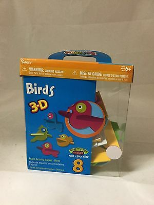 """Darice 3-D Foam Group Activity Busy Bucket, """"Birds"""", Makes 8, For Ages 6+"""