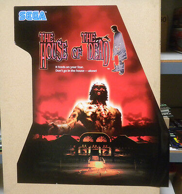 HOUSE OF THE DEAD sticker  zombie wall paper  new old stock arcade game part