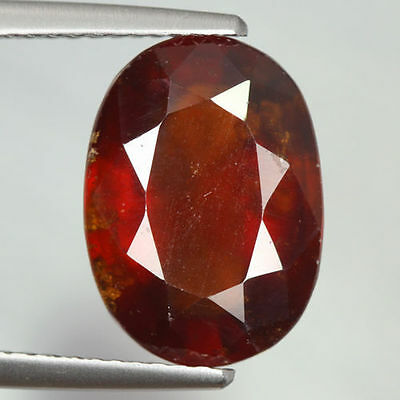 6.705 Cts Amazing Rare Beautiful Orange Red 100% Natural Hessonite Garnet Gem !!