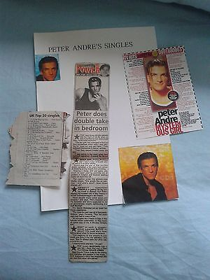 Rare Peter Andre newspaper  picture clippings