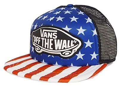 6a06cfdad0e Vans Off The Wall Men s CLASSIC PATCH AMERICAN FLAG Trucker Hat Cap BEACH  GIRL