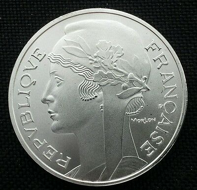 Republique Francaise France Freedom Goddess Commemorative Silver Plated Coin