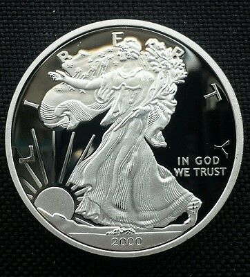 Silver Plated 2000 Statue of Liberty Eagle Commemorative Coin Collection Gift
