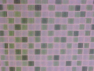 Miniatures Wall Covering Tiles Laminated  Dollhouse Diggs 1:12 Baby Blue & Jade