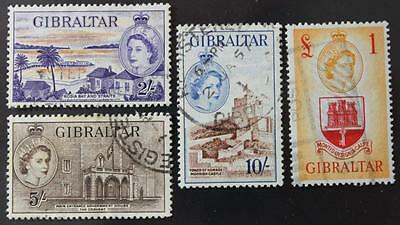 Gibraltar #142, 143, 144 & 145, Used High Values, No Tears Or Thins