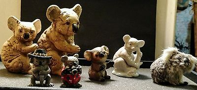Vintage Koala Bear Collectible Figurines UCTCI, Real Fur, Schleich
