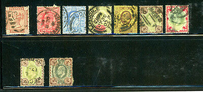 Great Britain Scott # 79, 128, 130, 132, 133, 138, 133, 133a  CV= $210.00, used