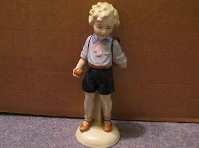 Continental Figurine - Schoolboy With Satchel [Crossed Hammers Mark]
