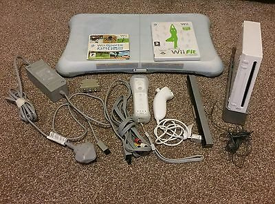 Wii Nintendo Console And Wii Fit Balance Board