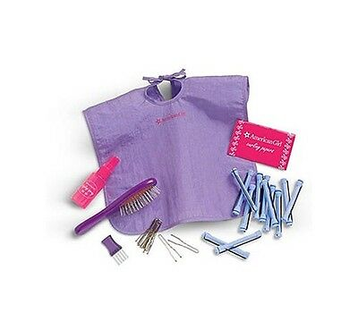 NEW American Girl Hair Care Kit Rollers Hair Pins Spray Bottle for Any AG Doll