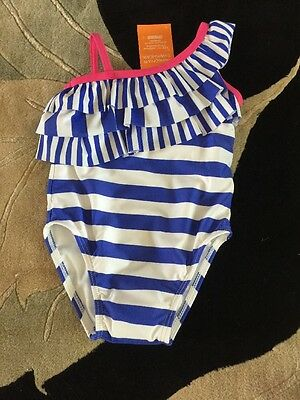 NWT Gymboree Infant Girls Size 18-24 Months One-piece Bathing Suit Blue Striped