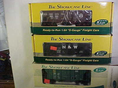 3 American Flyer Show Case Line S Helper Pan Hb Hopper Penn N&w Penn Central