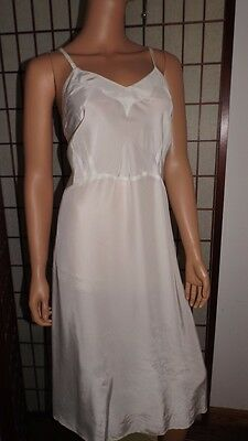 Vintage Custom Made Satin  Full Slip Rayon