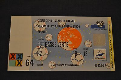 1998 FIFA World Cup Final Ticket Brazil v France Exc. Condition