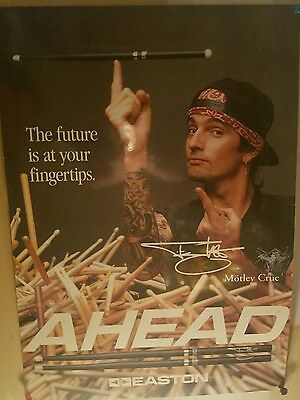 MOTLEY CRUE Tommy Lee Ahead DRUM STICK Drumstick Laminated Poster