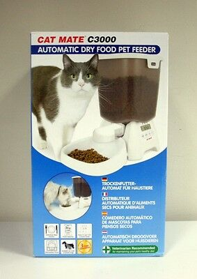 New - Cat Mate C3000 - Automatic Dry Food Pet Feeder