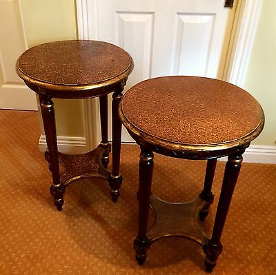 A pair of french empire style tables / occasional table