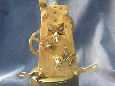 America Brass Clock Movement, Spring Wound, Time Only