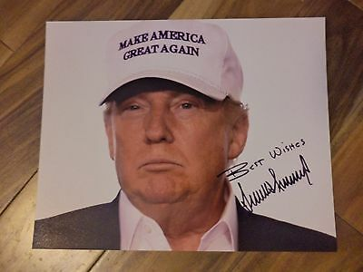 DONALD TRUMP 8X10 Signed Reprint Make America Great Again Photo HIGH QUALITY !