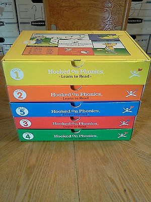 Hooked On Phonics 1-5 Complete Set UNUSED Unmarked Learn To Read COMPLETE